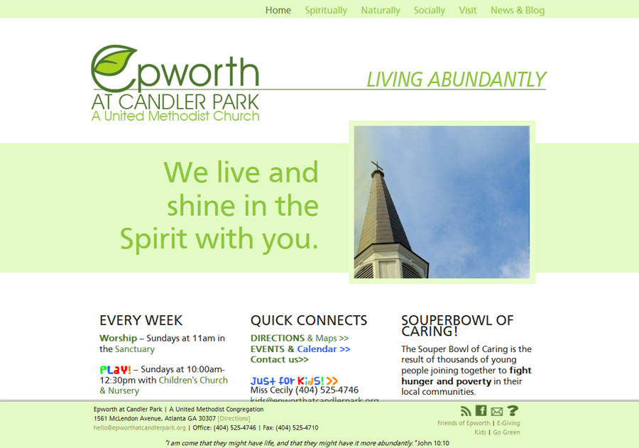 Epworth at Candler Park Church - clean, fresh and modern
