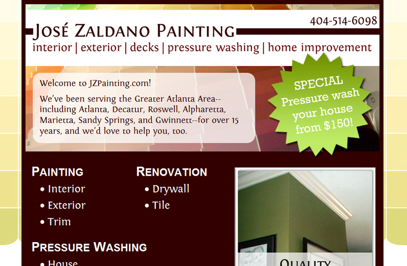 JZPainting.com - Simple, expandable website