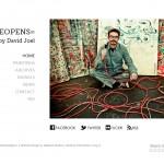 OneEyeOpens - Art Portfolio Website for David Joel