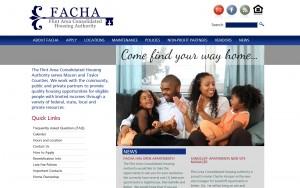 Website for FACHA - Flint Area Housing Authority
