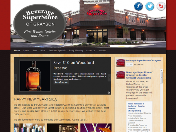 New Website for a new location: Beverage Superstore of Grayson