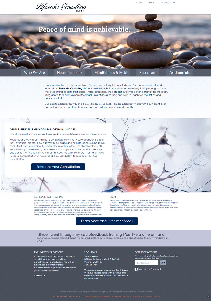 Full homepage.