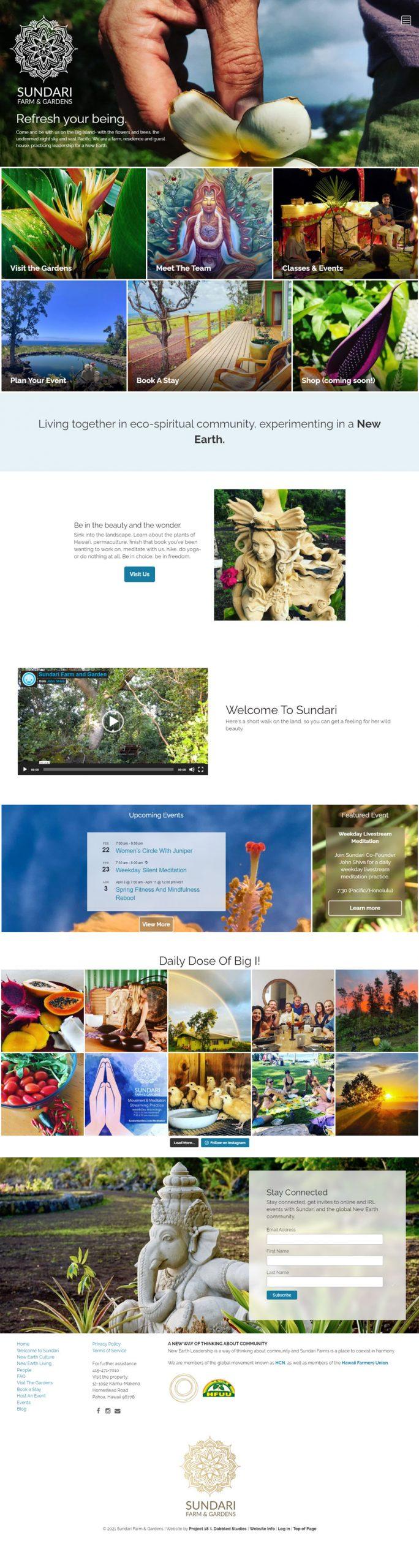 Sundari Home page